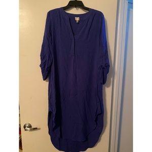 Cupio Women's Dress Blue Oversized Hi Low 💙